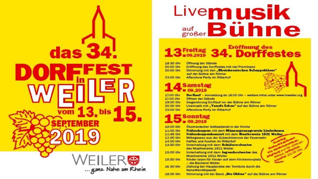 Plakatlogo Dorffest Weiler 2019_web